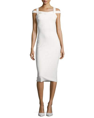 Mariska Cold-Shoulder Sheath Dress