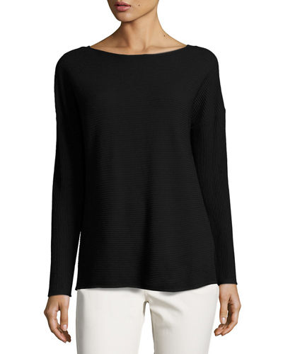 Matte Crepe V-Back Sweater, Plus Size