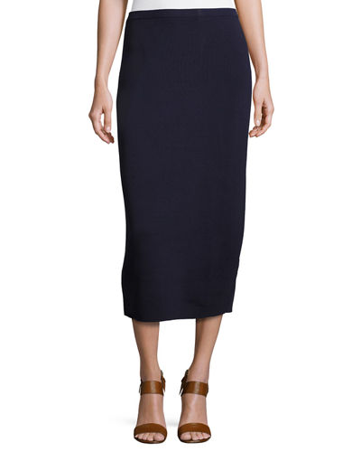 Eileen Fisher Washable Wool Midi Pencil Skirt, Petite