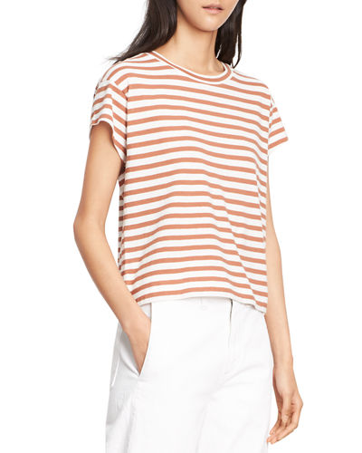 Striped Boxy Crew Neck Tee