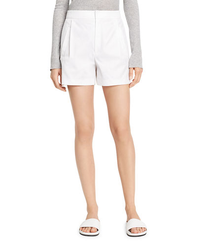 Vince High-Waist Pleated Shorts