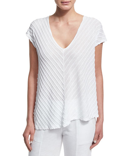 Meli Zita Knit V-Neck Top