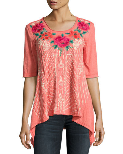 JWLA For Johnny Was Selena Trapeze Knit Tee,