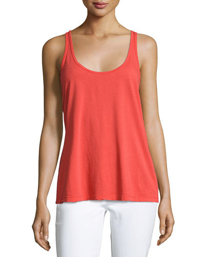 Scoop-Neck Cotton/Modal Tank, Plus Size