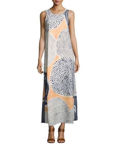 Sungrove Georgette Printed Long Dress