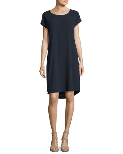 Go Raw Silk Shift Dress