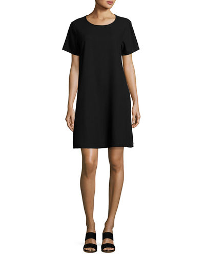 Silk Noil Shift Dress