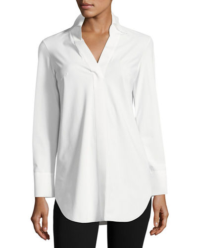 Atena Long-Sleeve Jersey Blouse