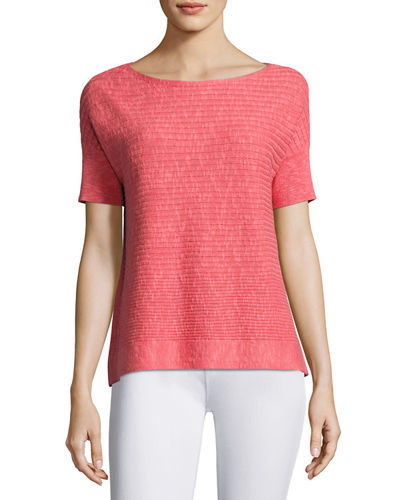 Eileen Fisher Organic Linen/Cotton Box Top