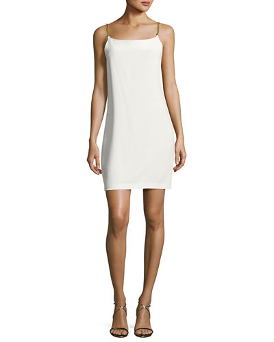 Benita Sleeveless Crepe de Chine Cocktail Dress