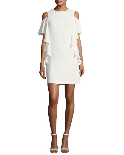 Lambada Crepe Ruffle-Trim Cocktail Dress