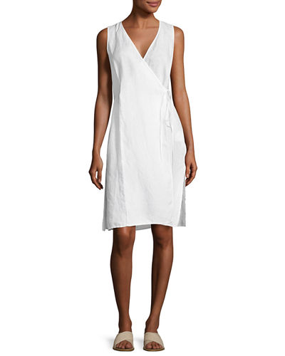 Handkerchief Linen Wrap Tunic, White