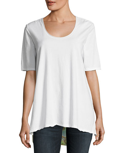 JWLA by Johnny Was Mayee Scarf-Back Tee