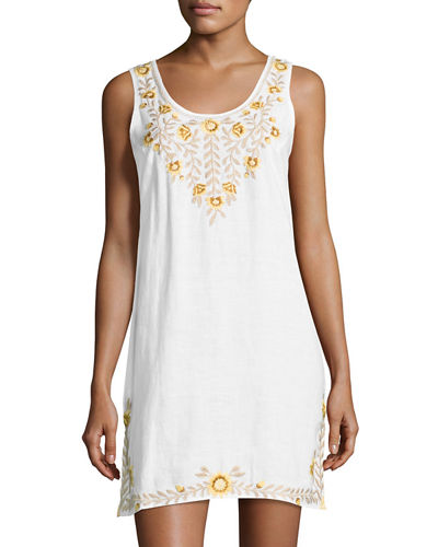 Tiva Linen Tank Dress, Plus Size