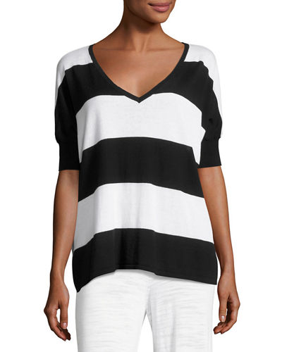 Wide-Stripe Top, Plus Size
