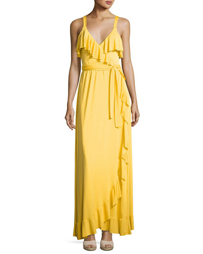 Ruffle Drama Maxi Dress, Plus Size