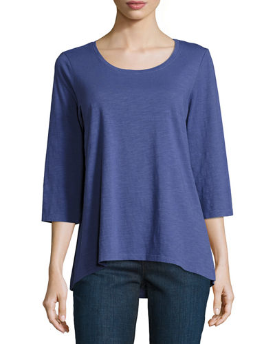 Slubby Organic Cotton Jersey Top
