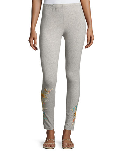 Melina Embroidered Leggings, Plus Size