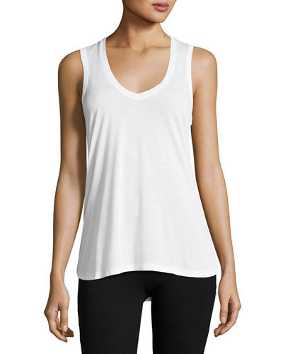 V-Neck Jersey Knit Tank Top