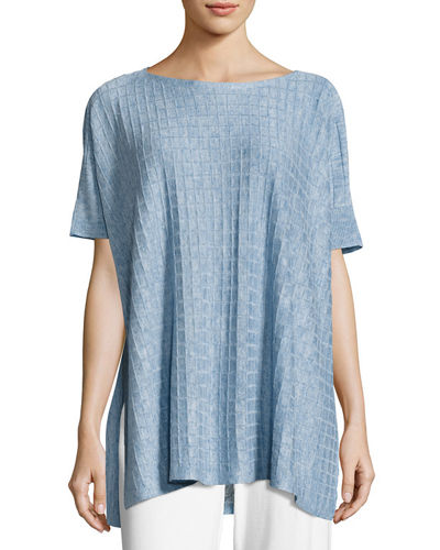 Eileen Fisher Lightweight Linen Melange Top, Petite