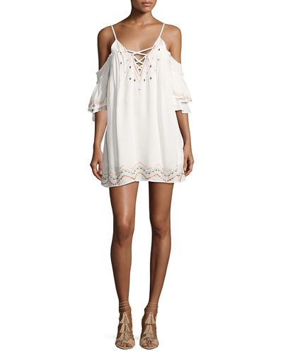 Naples Embroidered Swim Coverup Dress