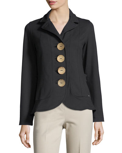 Drama French Terry Blazer, Plus Size