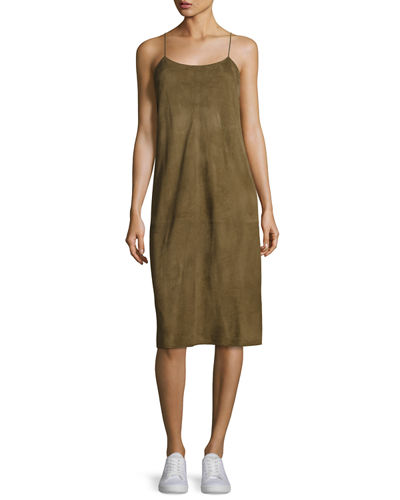 Telson S Metises Suede Midi Dress