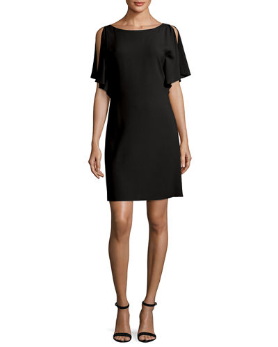 Andzelika Rosina Boat-Neck Crepe Dress