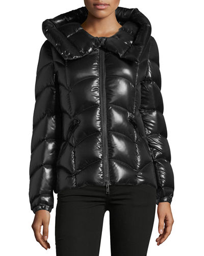 Anthia Hooded Wave Puffer Jacket