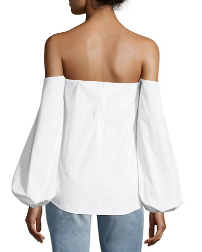 Laureema Off-the-Shoulder Light Poplin Top