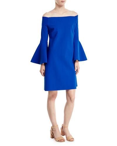 Nan Off-the-Shoulder Jersey Cocktail Dress