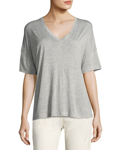 Drop-Shoulder V-Neck Tee
