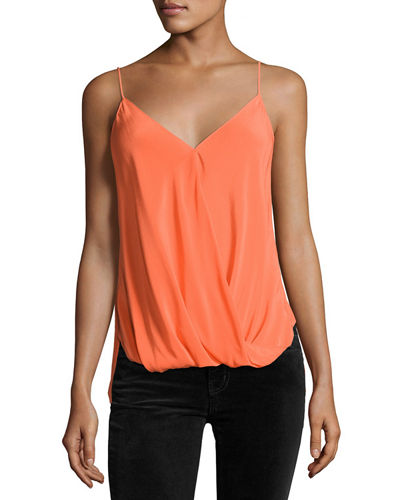 Falafel V-Neck Silk Camisole Top