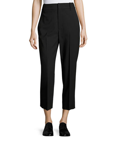 Vince High-Rise Wool Crop Trousers