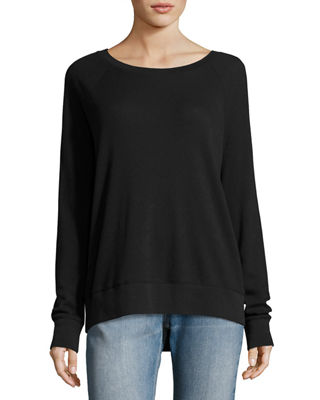 Vince Raglan Pima Cotton Pullover Sweater