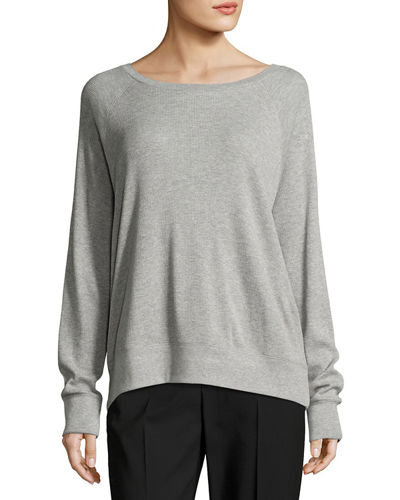 Raglan Pima Cotton Pullover Sweater