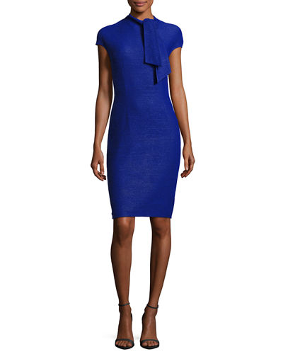 Knotted-Tie Sheath Dress