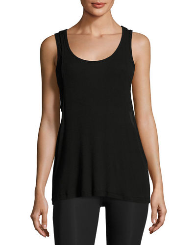 On & Off Ribbed 2-Fer Tank Top