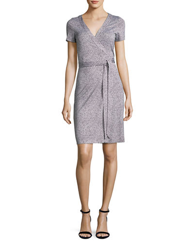 New Julian Two Silk Short-Sleeve Wrap Dress