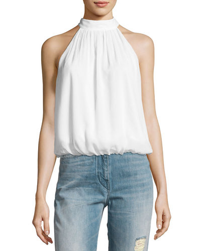 Maris Halter-Neck Gathered Top