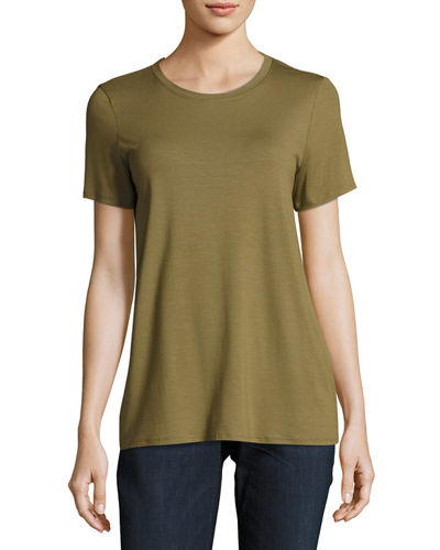 Short-Sleeve Lightweight Jersey Top, Petite