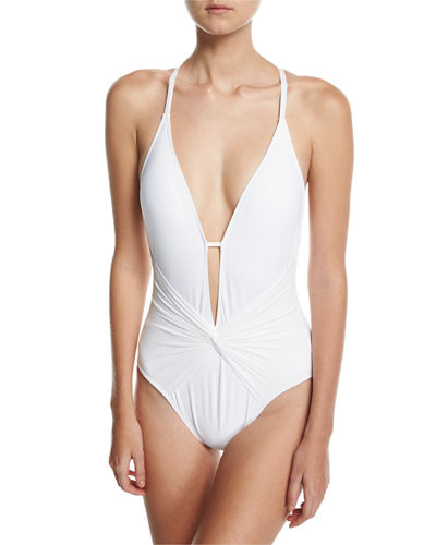 Island Plunging One-Piece Swimsuit