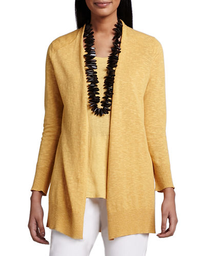 Eileen Fisher Open Slub Cardigan, Plus Size
