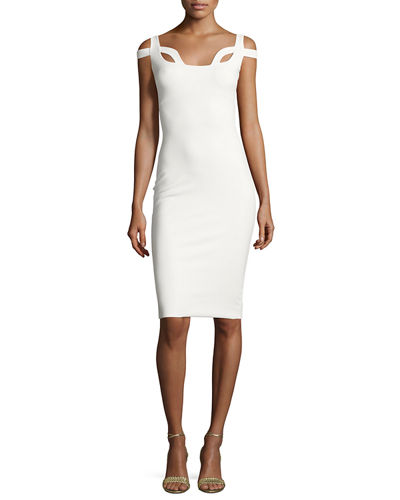 Every Sleeveless Cutout Jersey Cocktail Dress