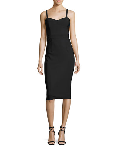Milly Leila Sleeveless Stretch Cocktail Dress