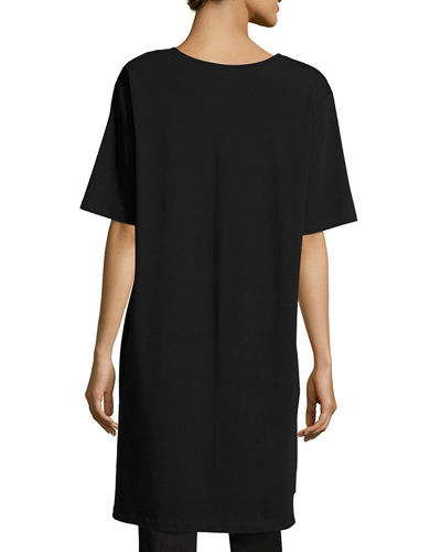 Scoop-Neck Jersey Tunic