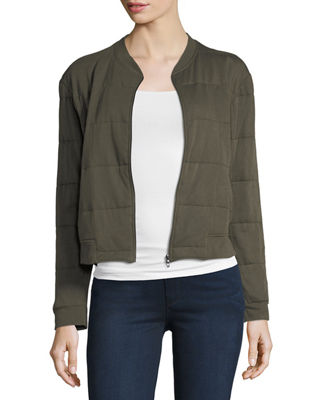 Majestic Paris For Neiman Marcus Quilted Viscose Bomber Jacket