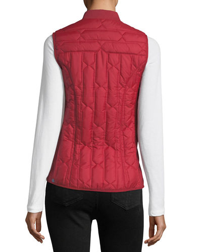 Zip-Front Quilted Mid-Layer Vest
