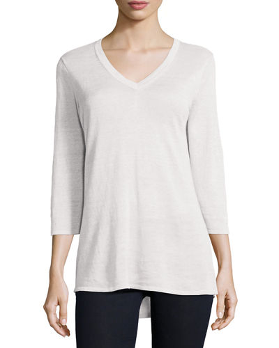 3/4-Sleeve V-Neck Tunic