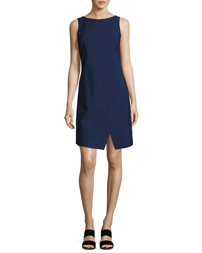 Risbana New Stretch Wool Sheath Dress